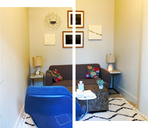 interior of a small room